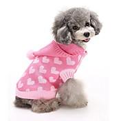 Gato Perro Suéteres Saco y Capucha Ropa para Perro Bonito Mantiene abrigado Moda Corazones Azul Rosa Disfraz Para mascotas