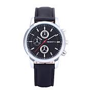 REBIRTH Hombre Reloj de Pulsera Reloj de Vestir Cuarzo / Gran venta PU Banda Casual Negro Blanco Marrón