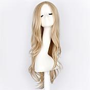 Syntetiske parykker / Kostymeparykker Bølget Blond Syntetisk hår Blond Parykk Lokkløs