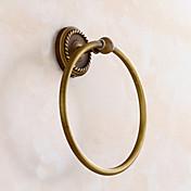 håndkle ring antikk messing veggmontert håndklestativ baderomstilbehør