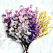 Flores Artificiales 1 Rama Estilo Pastoral Color Ciruela Flor de Mesa