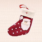 산타 클로스 양말 펜던트 크리스마스 트리 장식 야외 홈 파티 선물 용품 점 1 개 폴카