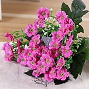 Kunstige blomster 1 Gren Pastorale Stilen Lilla Bordblomst