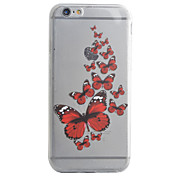 Para Funda iPhone 7 / Funda iPhone 7 Plus / Funda iPhone 6 Diseños Funda Cubierta Trasera Funda Mariposa Suave TPU AppleiPhone 7 Plus /