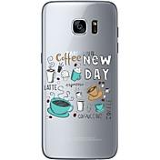 Funda Para Samsung Galaxy Samsung Galaxy S7 Edge Diseños Funda Trasera Navidad Suave TPU para S7 edge S7 S6 edge plus S6 edge S6