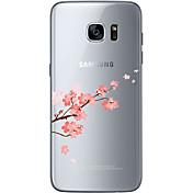 Funda Para Samsung Galaxy Samsung Galaxy S7 Edge Diseños Funda Trasera Flor Suave TPU para S7 edge S7 S6 edge plus S6 edge S6