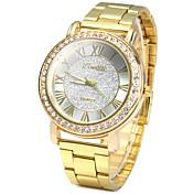 Hombre Cuarzo Reloj de Cristal Pavé Reloj de Pulsera / La imitación de diamante Acero Inoxidable Banda Vintage Casual Reloj de diamantes