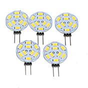 1.5W G4 Focos LED MR11 9 leds SMD 5730 Regulable Blanco Cálido 200-220lm 3000-3500K AC 12 DC 12V