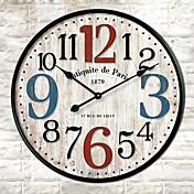 Moderno/Contemporáneo Otros Reloj de pared,Redondo Otros 30*30cm*3cm Interior Reloj