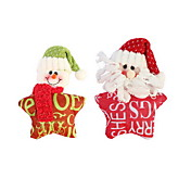 navidad tela pentagrama carta ornamento navidad decoración