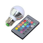 e14 e26 / e27 bombillas de globo led g45 1 de alta potencia led 250lm rgb rgb k regulable con control remoto regulable