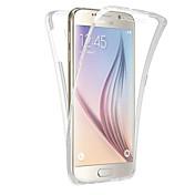 Funda Para Samsung Galaxy Traslúcido Funda de Cuerpo Entero Color sólido Suave TPU para Note 5 Note 4 Note 3