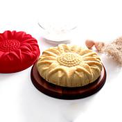 Bakeform Blomst Tekneserie Formet Sjokolade Pai Kake Silikon Miljøvennlig materiale Økovennlig Valentinsdag Høy kvalitet