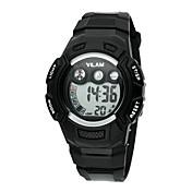 Vilam Niño Reloj Deportivo Reloj de Pulsera Reloj digital Digital LCD Calendario Resistente al Agua Cronómetro Plastic BandaCaricaturas