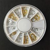 1pcs Adornos Joyería de uñas Metálico Moda Hecho a Mano Diseñado Especial Libre de Olores Alta calidad Reflectante Diario Nail Art Design