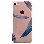 Para Funda iPhone 7 / Funda iPhone 6 / Funda iPhone 5 Ultrafina / Diseños Funda Cubierta Trasera Funda Pluma Suave TPU AppleiPhone 7 Plus