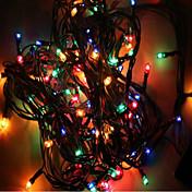 mx-qcd 100l 10 meter dekorere lys snor bringe ferie tre lys blinker automatisk farge endring