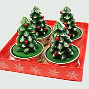 크리스마스 촛불 귀여운 크리스마스 트리 끝에 씌운 쇠 4 개