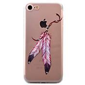용 아이폰7케이스 / 아이폰7플러스 케이스 / 아이폰6케이스 투명 / 패턴 케이스 뒷면 커버 케이스 깃털 소프트 TPU Apple 아이폰 7 플러스 / 아이폰 (7) / iPhone 6s Plus/6 Plus / iPhone 6s/6