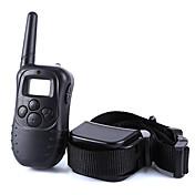 Perro collar de la corteza Collares de Entrenamiento para Perros Antiladrido 300M Control Remoto Electrónico/Eléctrico LCD Vibración Un