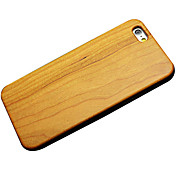 cubierta trasera dura de madera de cerezo para el iPhone 6 Plus