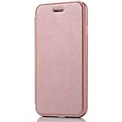 Etui Til Apple iPhone X iPhone 8 Etui iPhone 5 iPhone 6 iPhone 7 Kortholder Flipp Heldekkende etui Helfarge Hard PU Leather til iPhone X