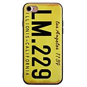 용 패턴 케이스 뒷면 커버 케이스 단어 / 문구 소프트 TPU Apple 아이폰 7 플러스 / 아이폰 (7) / iPhone 6s Plus/6 Plus / iPhone 6s/6