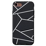 용 패턴 케이스 뒷면 커버 케이스 기하학 패턴 하드 아크릴 Apple 아이폰 7 플러스 / 아이폰 (7) / iPhone 6s Plus/6 Plus / iPhone 6s/6