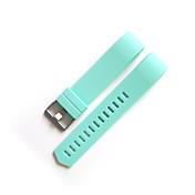 Rojo / Negro / Blanco / Verde / Azul / Marrón / Gris / Morado / Rose Fluoroelastómero Hebilla Moderna Para Fitbit Reloj 20mm