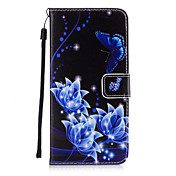 Etui Til Apple Etui iPhone 5 iPhone 6 iPhone 7 Kortholder Lommebok med stativ Flipp Bakdeksel Sommerfugl Hard PU Leather til iPhone 7