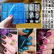 PC 1 tema de la navidad placa de arte imagen plantilla de sello de uñas nacido bastante clavo que estampa las placas