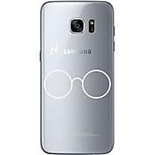 Etui Til Samsung Galaxy S7 edge S7 Ultratynn Gjennomsiktig Mønster Bakdeksel Helfarge Myk TPU til S7 edge S7 S6 edge plus S6 edge S6