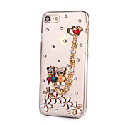 Para Funda iPhone 7 Funda iPhone 6 Funda iPhone 5 Carcasa Funda Diamantes Sintéticos Cubierta Trasera Funda Dibujos Dura Policarbonato