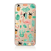 Etui Til Apple iPhone X iPhone 8 Plus Etui iPhone 5 iPhone 6 iPhone 7 Gjennomsiktig Mønster Bakdeksel Flamingo Myk TPU til iPhone X
