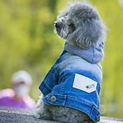 Perros Saco y Capucha Chaquetas Vaqueras Ropa para Perro vaquero Moda Vaqueros Azul