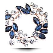 Mujer Cristal Broche - Diamante Sintético, Cristal Austriaco Lujo Broche Fucsia / Dorado / Blanco / Blanco Para Boda / Fiesta / Diario