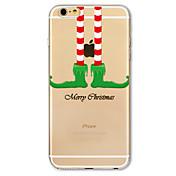 용 패턴 케이스 뒷면 커버 케이스 크리스마스 소프트 TPU Apple 아이폰 (7) / iPhone 6s/6