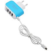 Stasjonær lader / Bærbar lader USB-lader Eu Plugg Hurtiglading / Flere porter 3 USB-porter 3.1 A