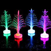 fiberoptisk tre ledet fargerikt farge lite tre tilfeldig farge