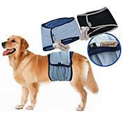 Hund Bukser مزيج القطن Bleier Hundeklær Velventilert Fritid/hverdag Ensfarget Svart Blå Kostume For kjæledyr