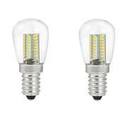 ONDENN 2pcs 2700-3000/6000-6500lm E14 LED-globepærer C35 104PCS LED perler SMD 3014 Dekorativ Varm hvit Kjølig hvit 220-240V