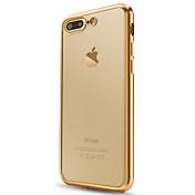 Etui Til Apple iPhone X iPhone 8 iPhone 6 iPhone 7 Plus iPhone 7 Belegg Gjennomsiktig Bakdeksel Helfarge Myk TPU til iPhone X iPhone 8