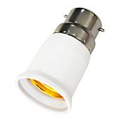 B22 a E27 E27 Enchufe de la luz El plastico