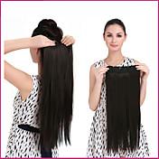 """24 """"clip de 1pc 140g en largas extensiones de cabello rectas de calor sintética piezas de pelo de fibra resistente multicolor"""