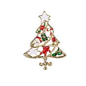 Mujer Broche - Broche Dorado / Arco iris Para Regalos de Navidad / Fiesta / Diario