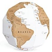 DIY kreative scratch kloden montering 3d stereo verden verdenskartet vertikal verden gave