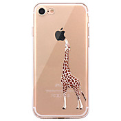 Para iPhone X iPhone 8 iPhone 8 Plus Carcasa Funda Ultrafina Diseños Cubierta Trasera Funda Animal Suave TPU para Apple iPhone X iPhone 8