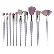 10pcs Makeup børster Profesjonell Børstesett / Rougebørste / Øyenskyggebørste Syntetisk hår / Kunstig fiber børste / røyskatt børste
