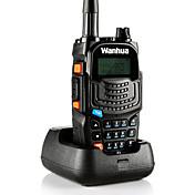 wanhua UV6S Walkie-talkie Håndholdt Dobbelt bånd Strømsparefunksjon Stemmekommando LCD Overvågning >10 km >10 km 128 8 Walkie Talkie