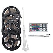20m Lyssett 1200 LED 3528 SMD RGB Fjernkontroll / Kuttbar / Mulighet for demping 100-240 V / Koblingsbar / Passer for kjøretøy / Selvklebende / Fargeskiftende / IP44